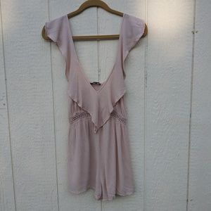 Kendall and Kylie nude color romper size XS